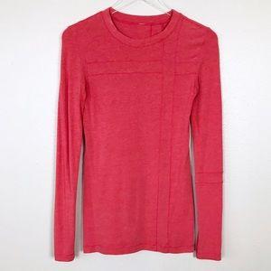 Lululemon Coral Long Sleeve Top